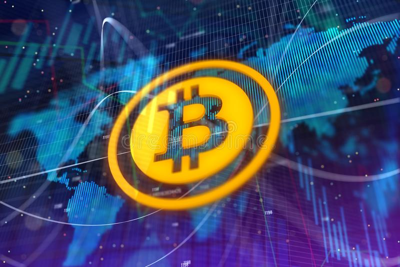 Fond créatif de bitcoin illustration libre de droits