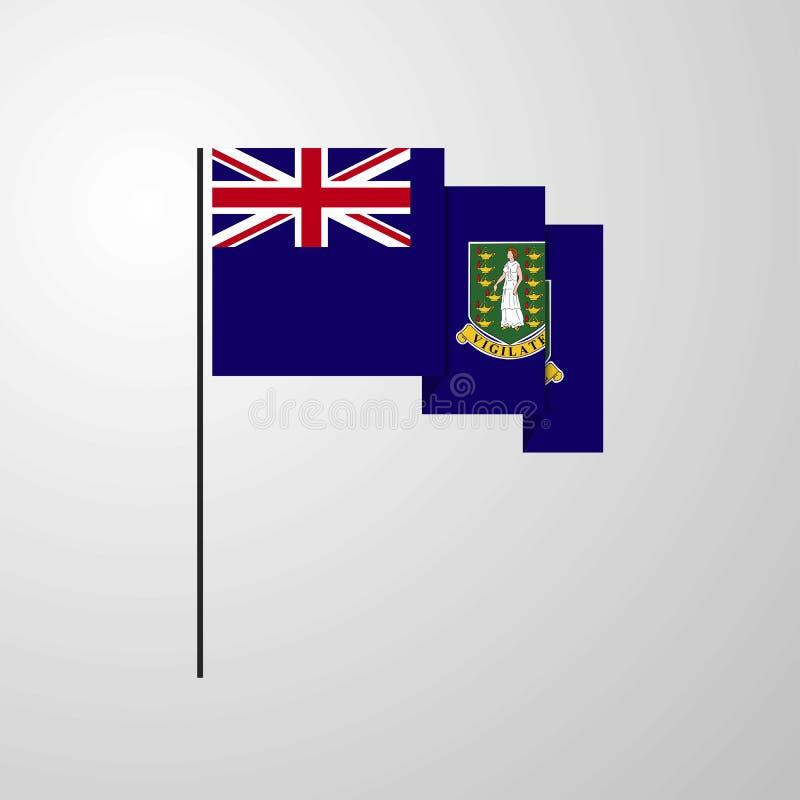 Fond créatif de ondulation BRITANNIQUE de drapeau des Îles Vierges illustration libre de droits