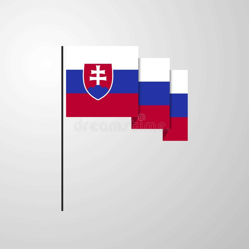 Fond créatif de ondulation de drapeau de la Slovaquie illustration libre de droits