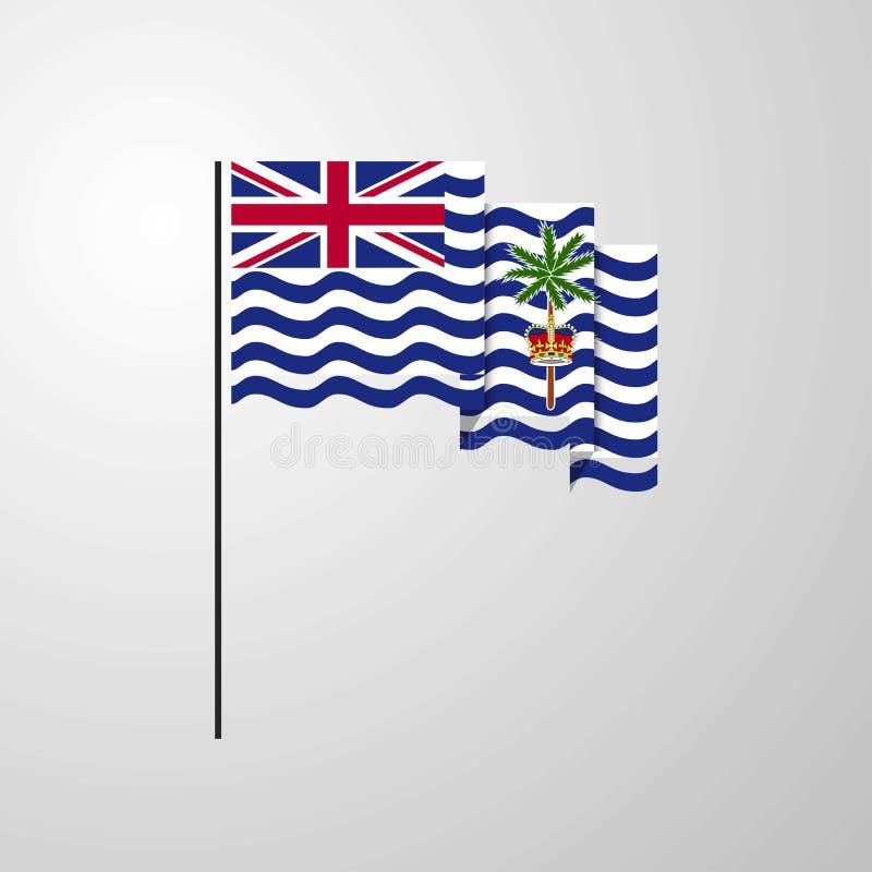 Fond créatif de ondulation de drapeau de territoire d'Océan Indien britannique illustration stock