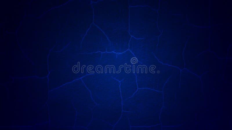 Fond criqué bleu profond de peinture photo stock