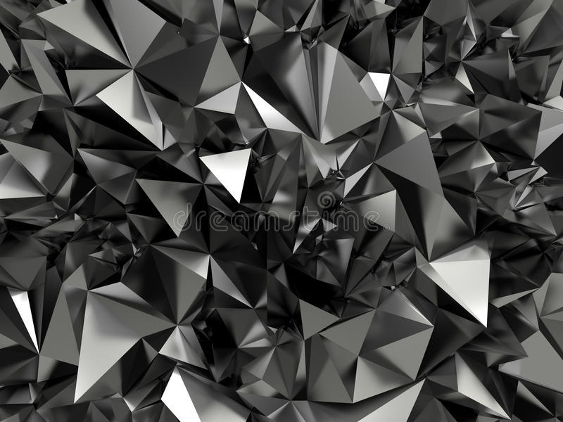 Fond cristallisé noir abstrait illustration libre de droits