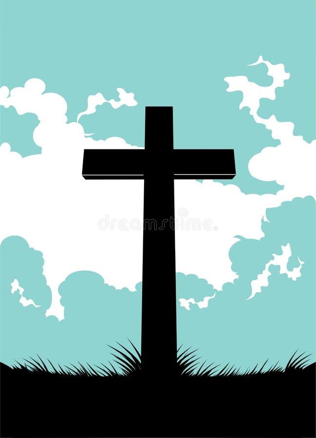 Fond croisé chrétien illustration libre de droits