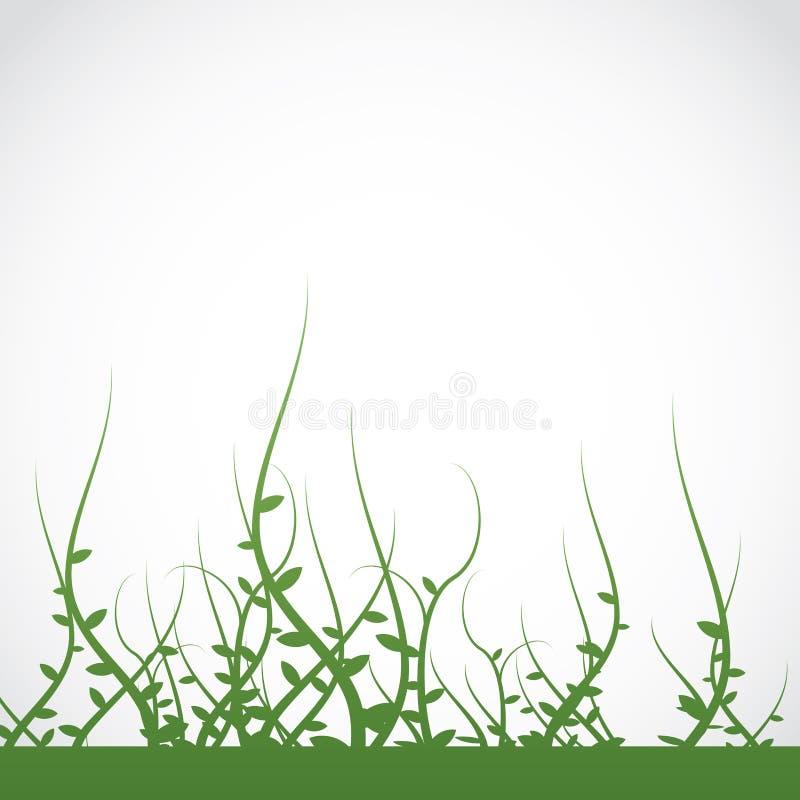 Fond croissant de mauvaises herbes d'usines illustration libre de droits