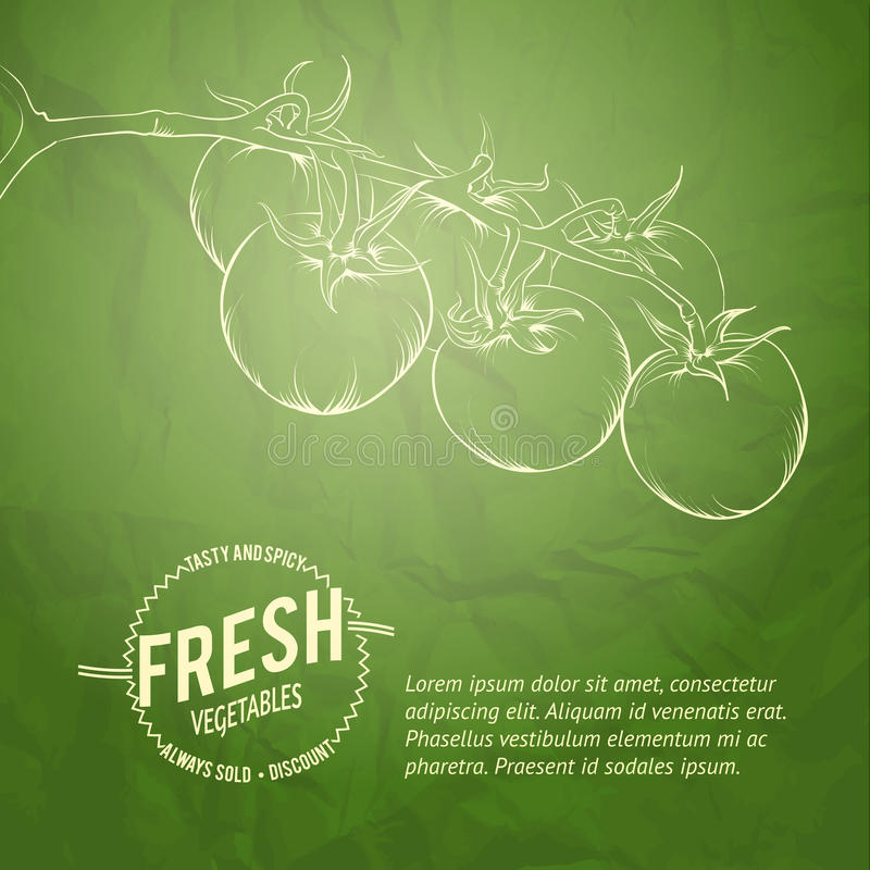 Fond culinaire de couverture. illustration stock