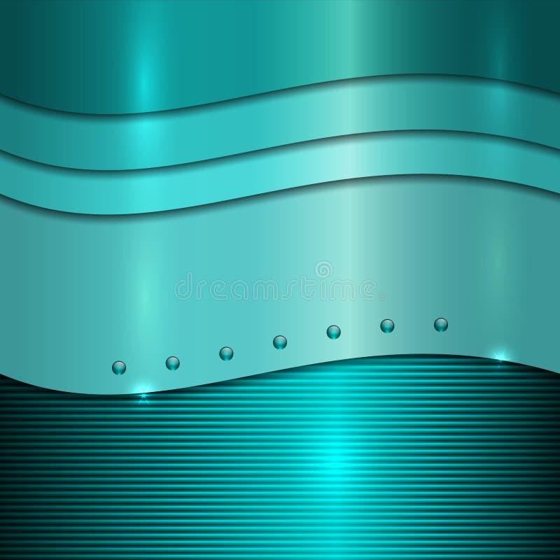 Fond cyan en métal de vecteur illustration de vecteur