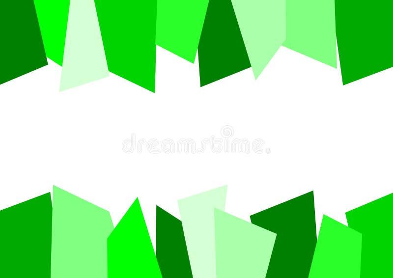 Fond déchiqueté abstrait vert illustration de vecteur