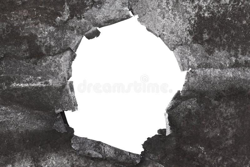 Fond déchiré en métal sur le blanc photographie stock libre de droits