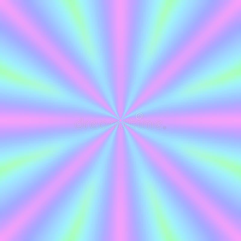 Fond décoratif avec les poutres multicolores lumineuses illustration libre de droits