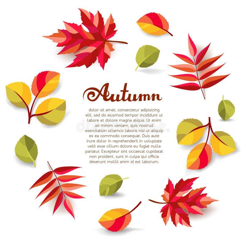 Fond décoratif d'automne illustration stock