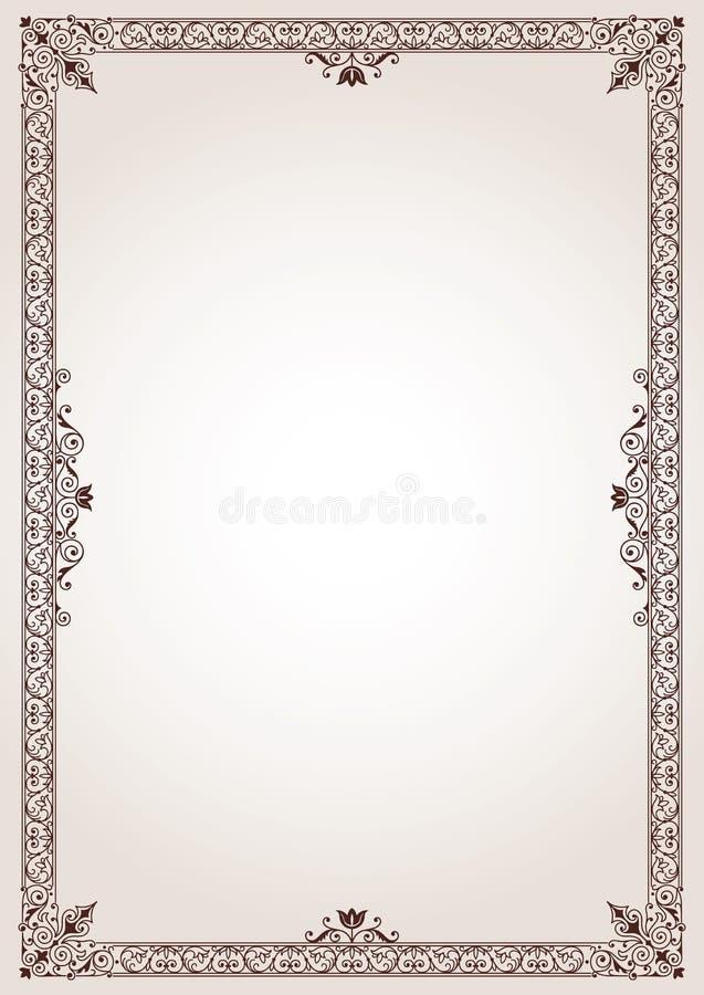 Fond décoratif de cadre de frontière de vintage illustration de vecteur
