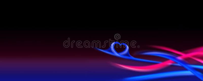 Fond décoratif de coeur d'onde illustration stock