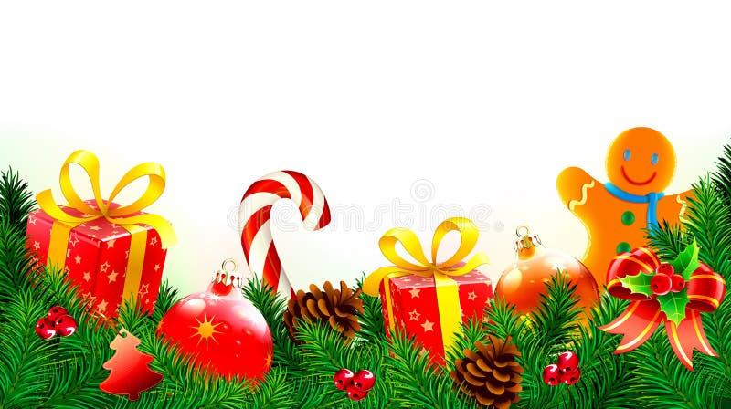 Fond décoratif de Noël illustration libre de droits