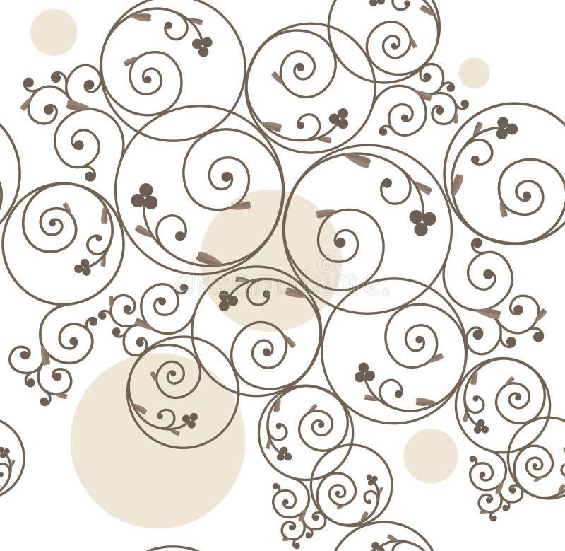Fond décoratif sans joint illustration de vecteur