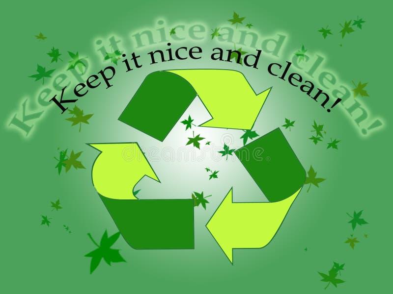 Fond d'écologie illustration stock