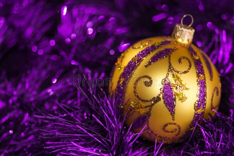Fond d'éléments de décoration d'arbre de Noël de nouvelle année photos stock