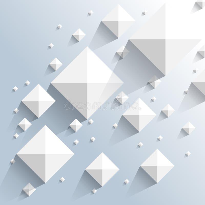 Fond d'éléments de pyramide de vue supérieure de vecteur illustration libre de droits