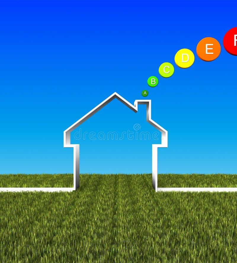 Fond d'énergie inférieure de maison d'Eco illustration libre de droits
