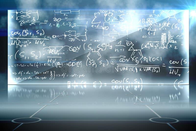 Fond d'équation de maths illustration de vecteur
