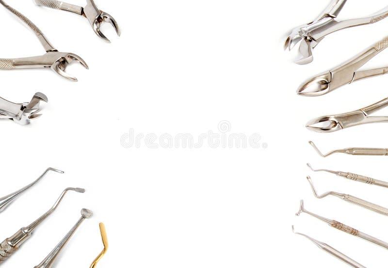 Fond d'équipement dentaire photo libre de droits