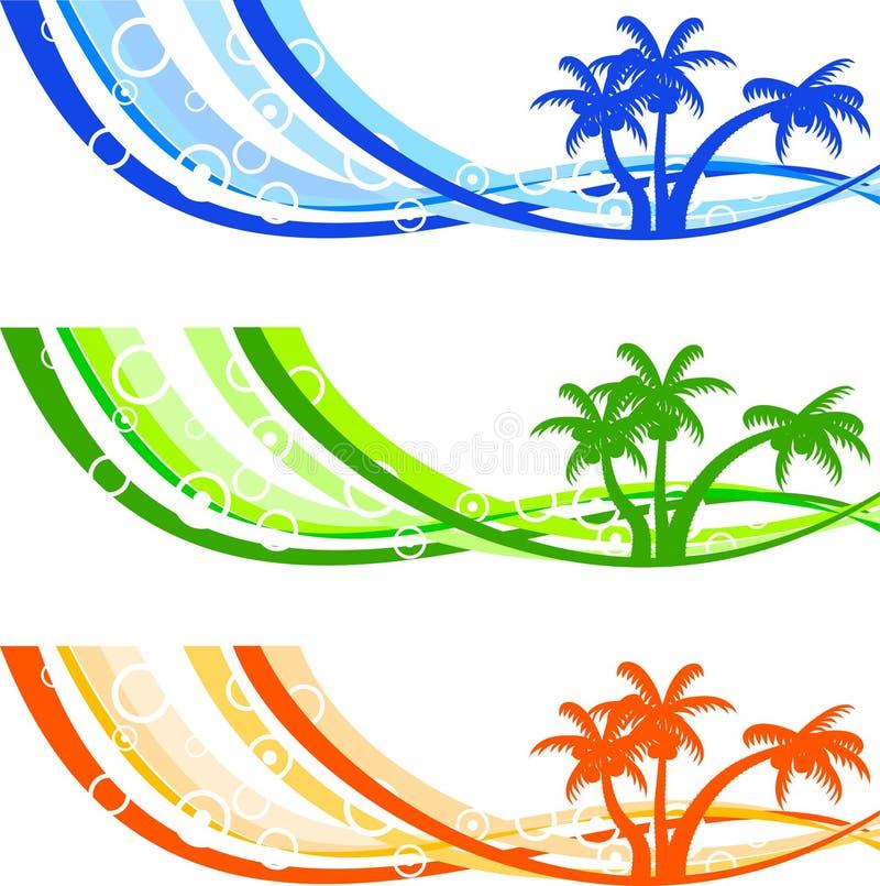 Fond d'été. illustration de vecteur