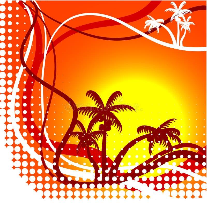 Fond d'été. illustration stock