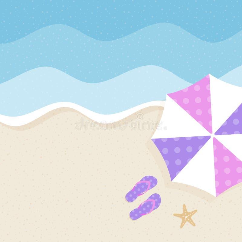 fond d'été, heure d'été, illustration de vecteur de concept de vacances d'été illustration libre de droits