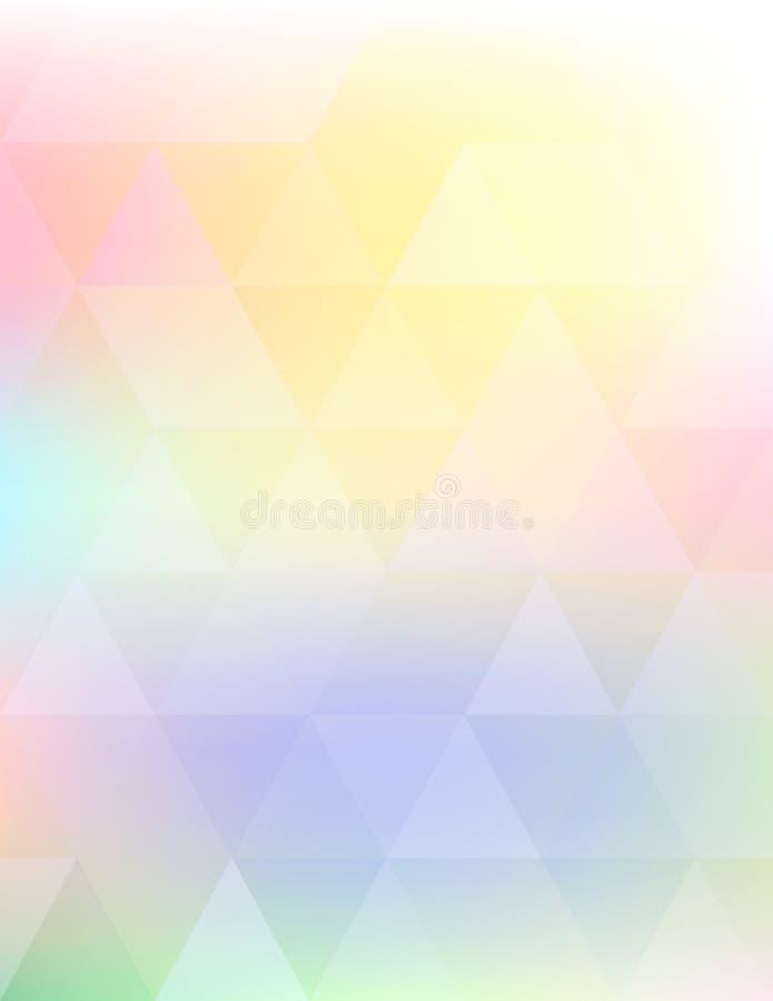 Fond d'été Modèle léger brouillé par couleur douce abstraite illustration stock