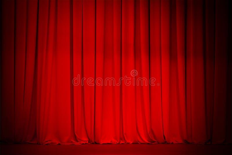 Fond d'étape rouge de rideau photographie stock