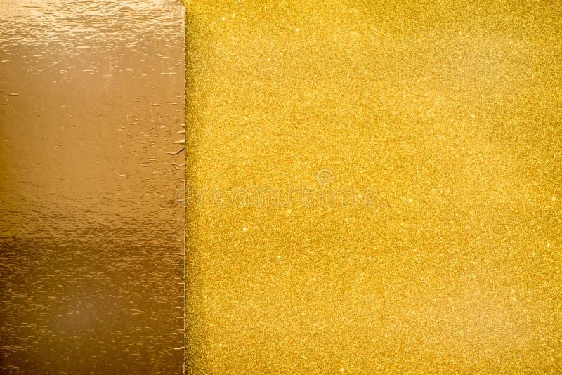 Fond d'étincelle de scintillement d'or photos stock