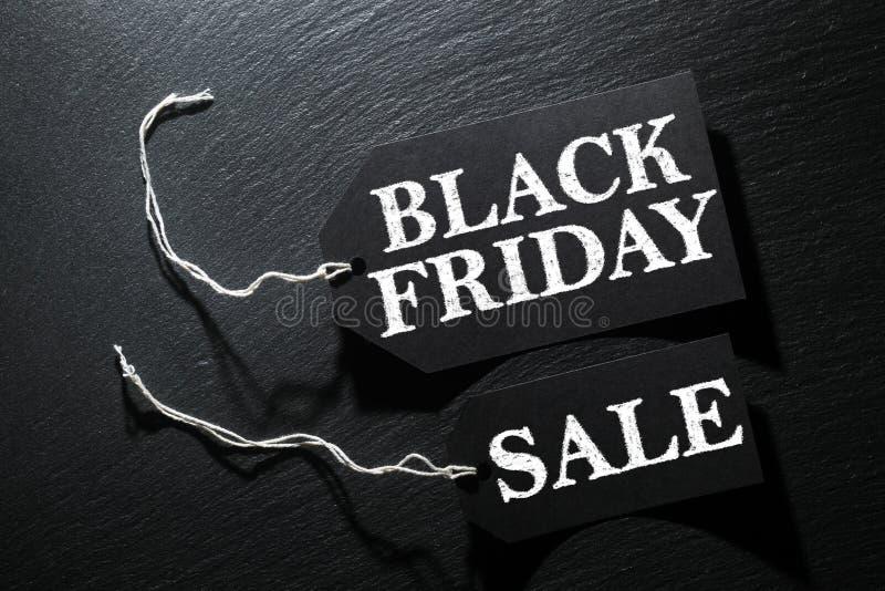 Fond d'étiquette de vente de Black Friday photographie stock