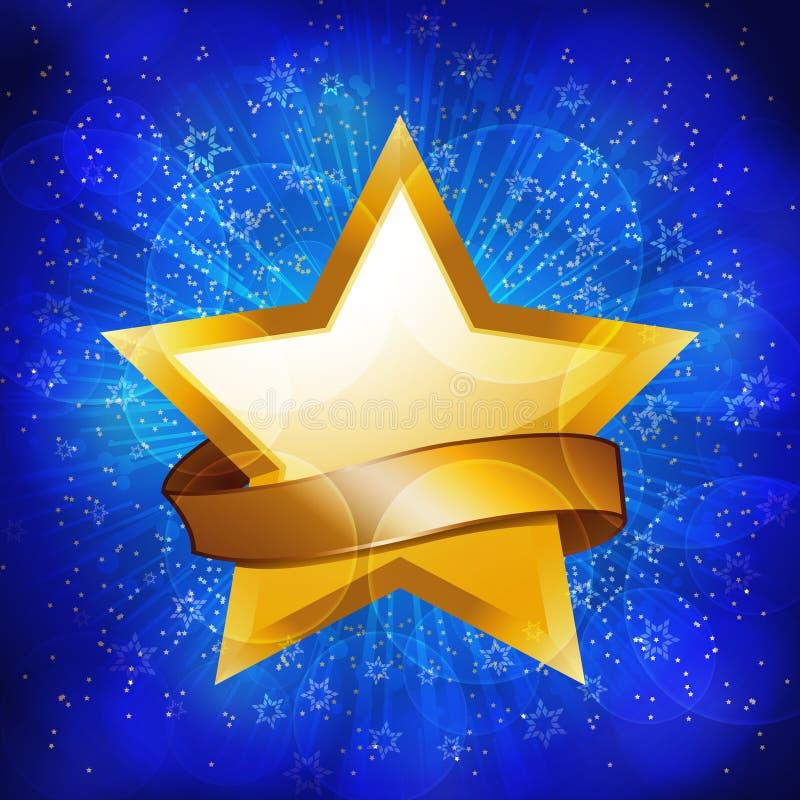 Fond d'étoile de célébration d'or illustration libre de droits