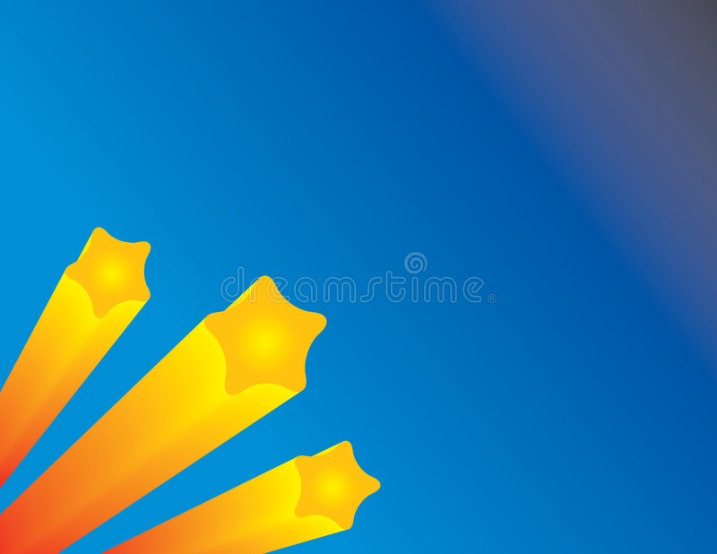 Fond d'étoile filante illustration stock