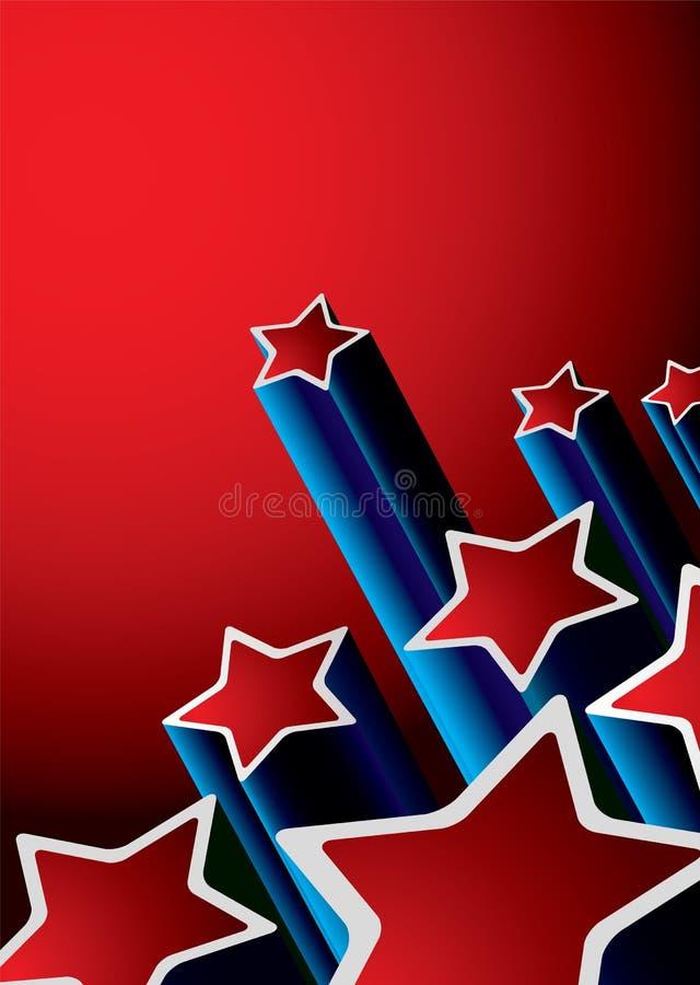 Fond d'étoile rétro illustration stock