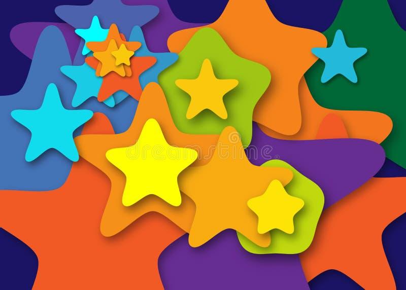 Fond d'étoiles illustration stock