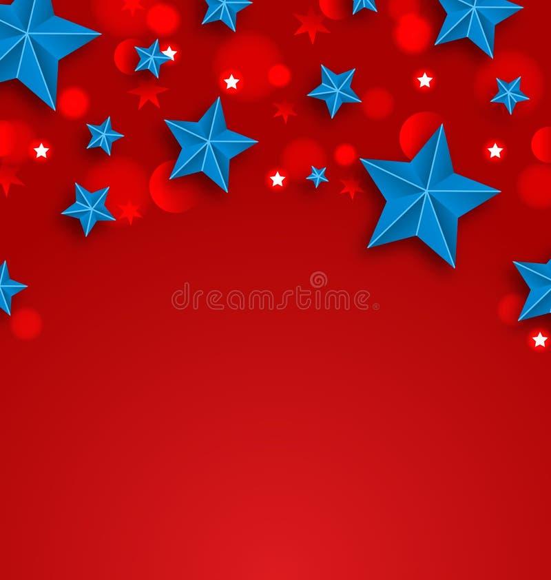 Fond d'étoiles pendant des vacances américaines, endroit pour votre texte illustration stock