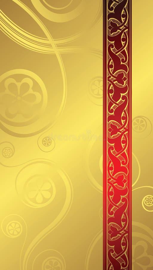 Fond d'or 1-2 illustration de vecteur