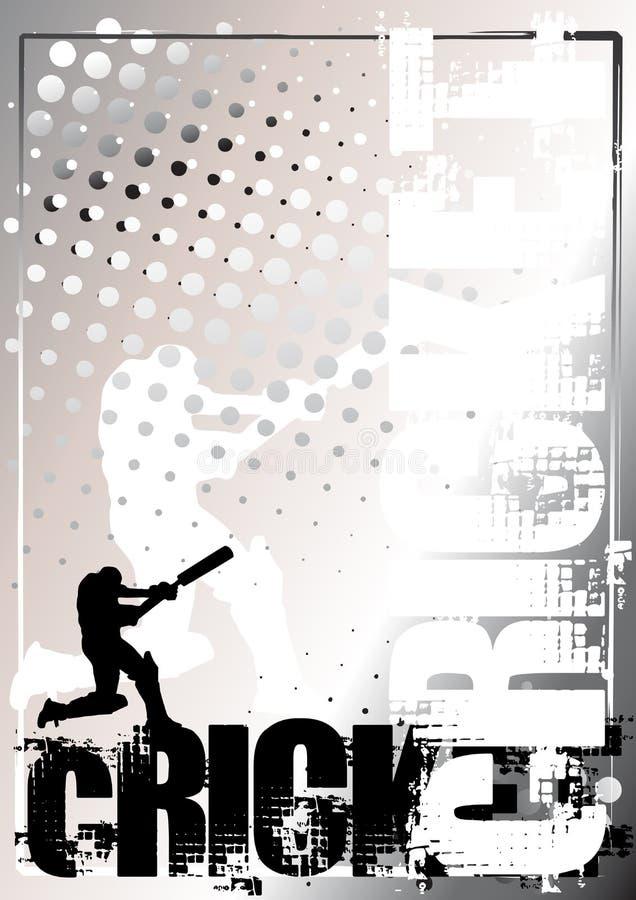 Fond d'or 1 d'affiche de cricket illustration libre de droits