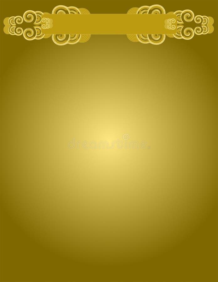 Fond d'or illustration stock