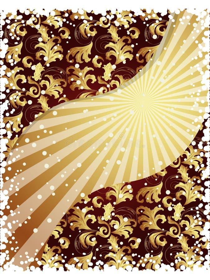 fond d'or illustration libre de droits