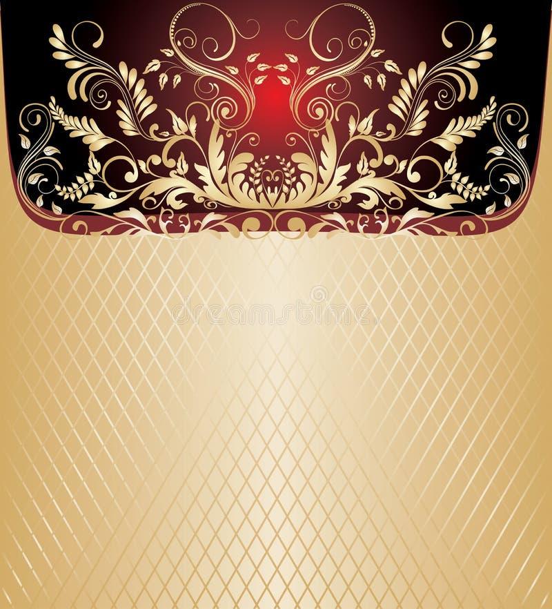 fond d'or illustration de vecteur