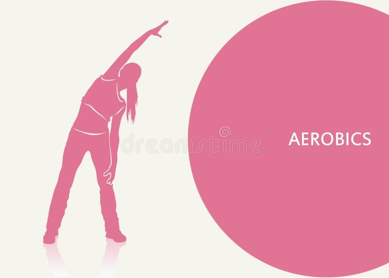 Fond d'aérobic illustration libre de droits