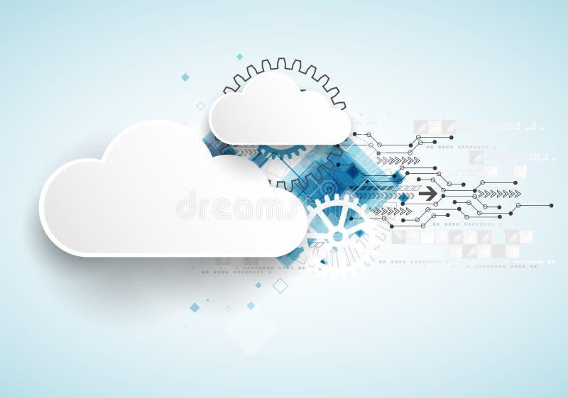 Fond d'abrégé sur affaires de technologie de nuage de Web illustration de vecteur