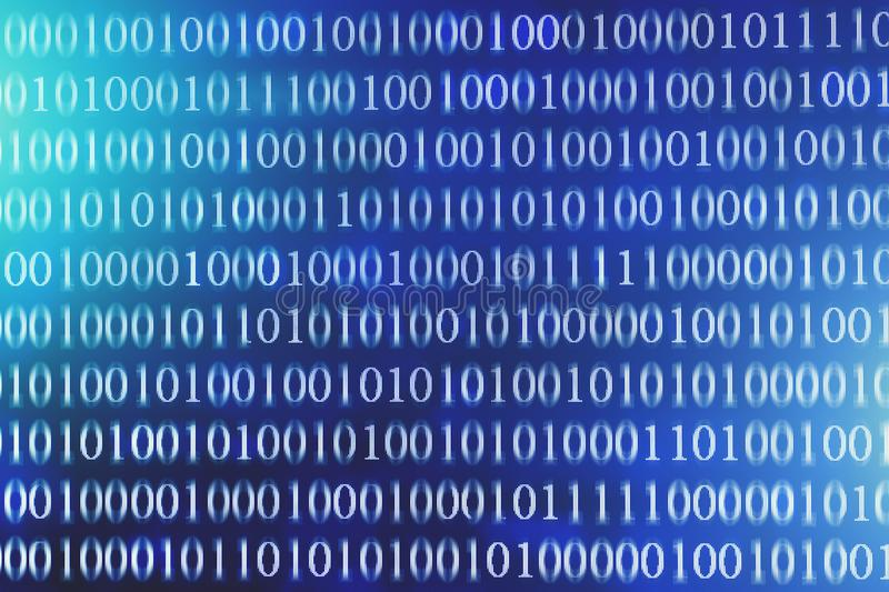 Fond d'abrégé sur code binaire Communication d'Internet de technologie et données modernes de réseau photos stock