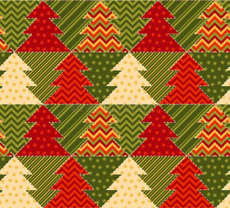 Fond d'abrégé sur couleur verte et rouge d'arbre de Noël illustration de vecteur