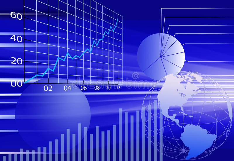 Fond d'abrégé sur données financières du monde d'affaires illustration de vecteur