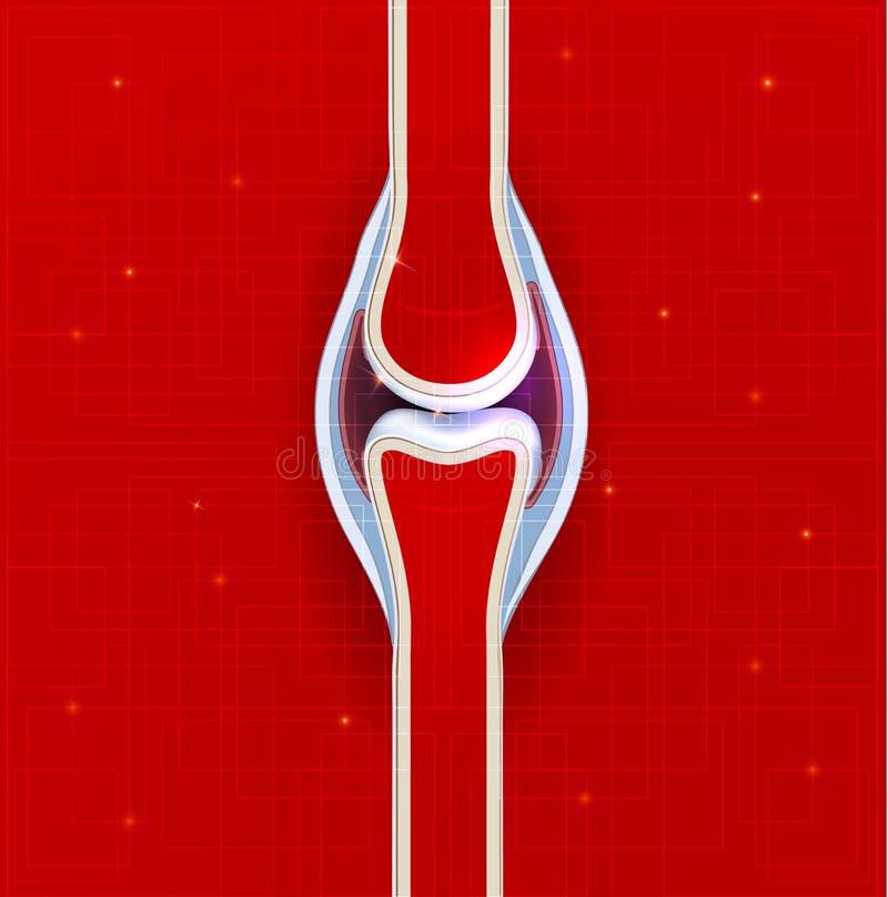 Fond d'abrégé sur joint de couleur rouge illustration de vecteur