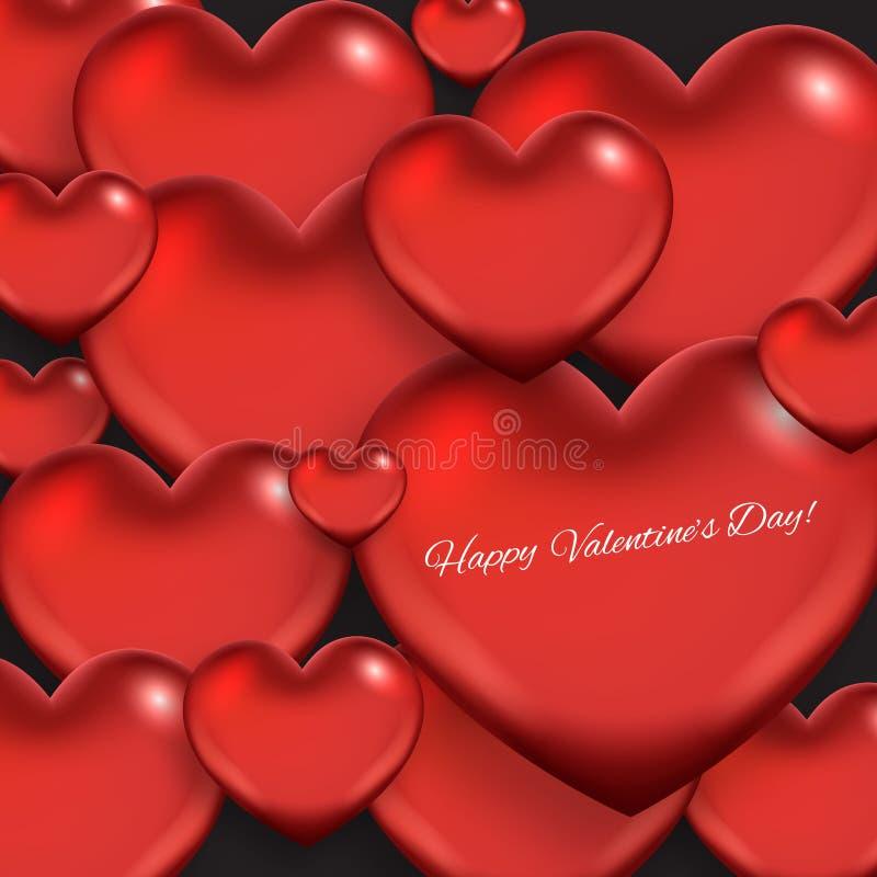 Fond d'abrégé sur jour du ` s de Valentine avec des coeurs illustration stock