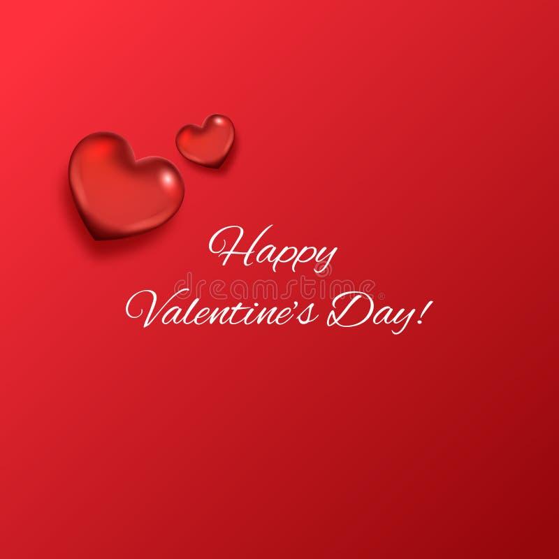 Fond d'abrégé sur jour du ` s de Valentine avec des coeurs illustration de vecteur
