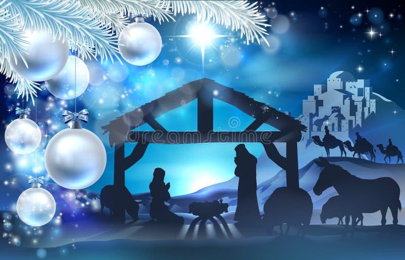 Fond d'abrégé sur Noël de nativité illustration libre de droits